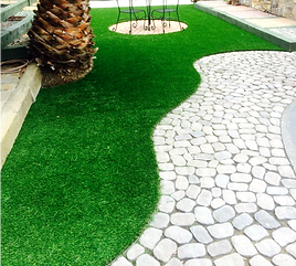 Artificial Grass with paver pathway