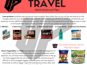 Travel - Quick Grabs and Tips