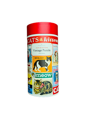 Puzzle vintage - Cats & kittens
