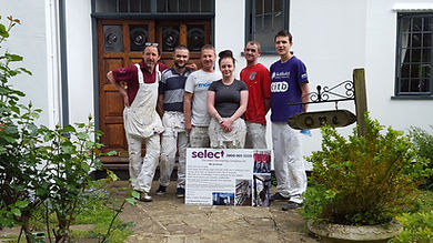 Painters, decorators, totnes. team photo