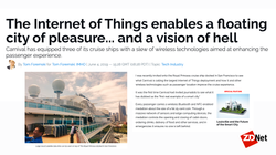 Tom's story on Carnival's IOT