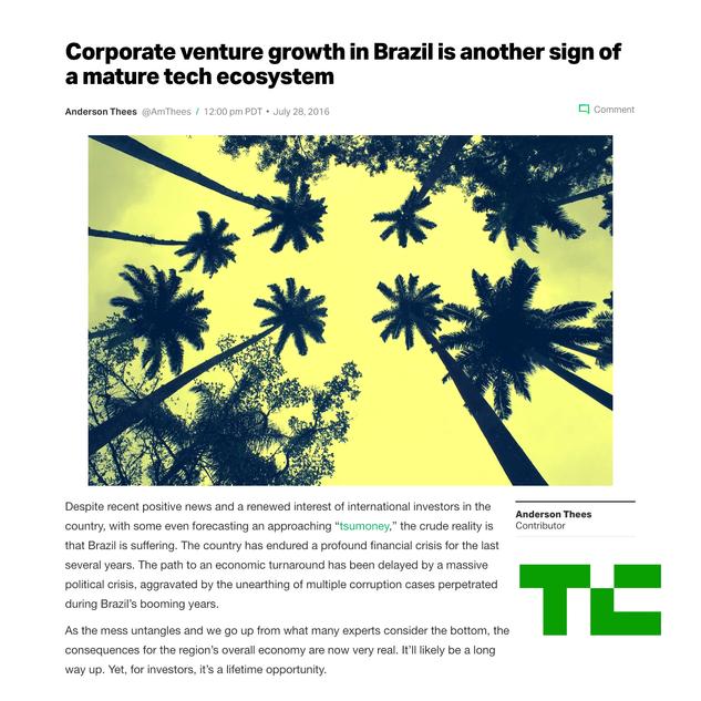 Brazilian Corporate Venture Grows.