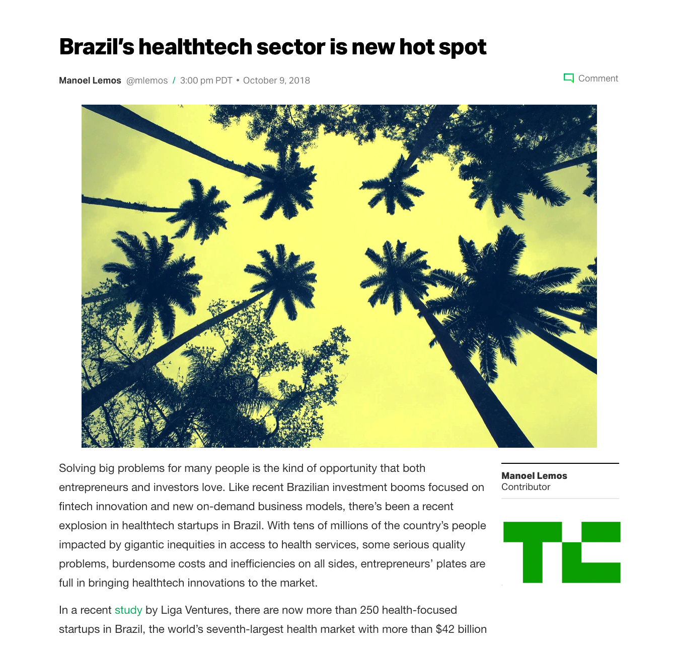 Brazil's Healthtechs Are New Hot Spot.