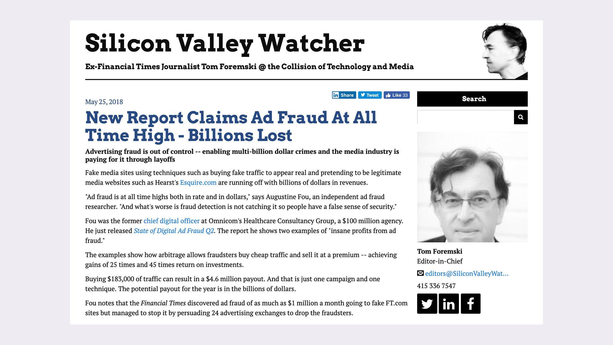 Tom's story on digital ad fraud