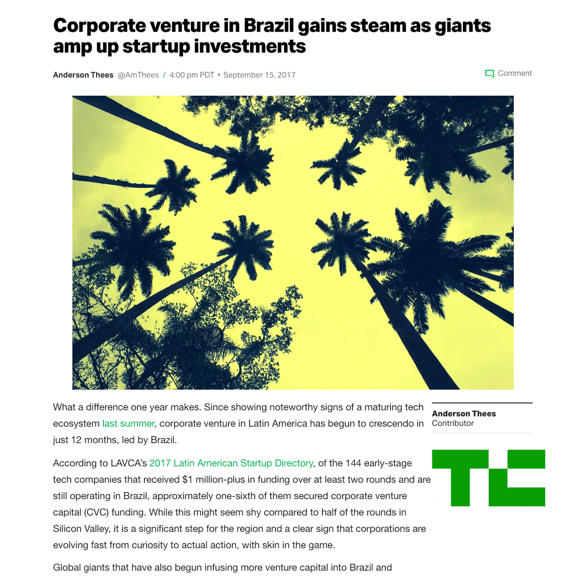 Corporate VCs Amp Up Investments.