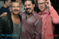 San Francisco nightlife legend Cip Cipriano (left) and Celso Dulay, host of Glitter Bomb TV (center)