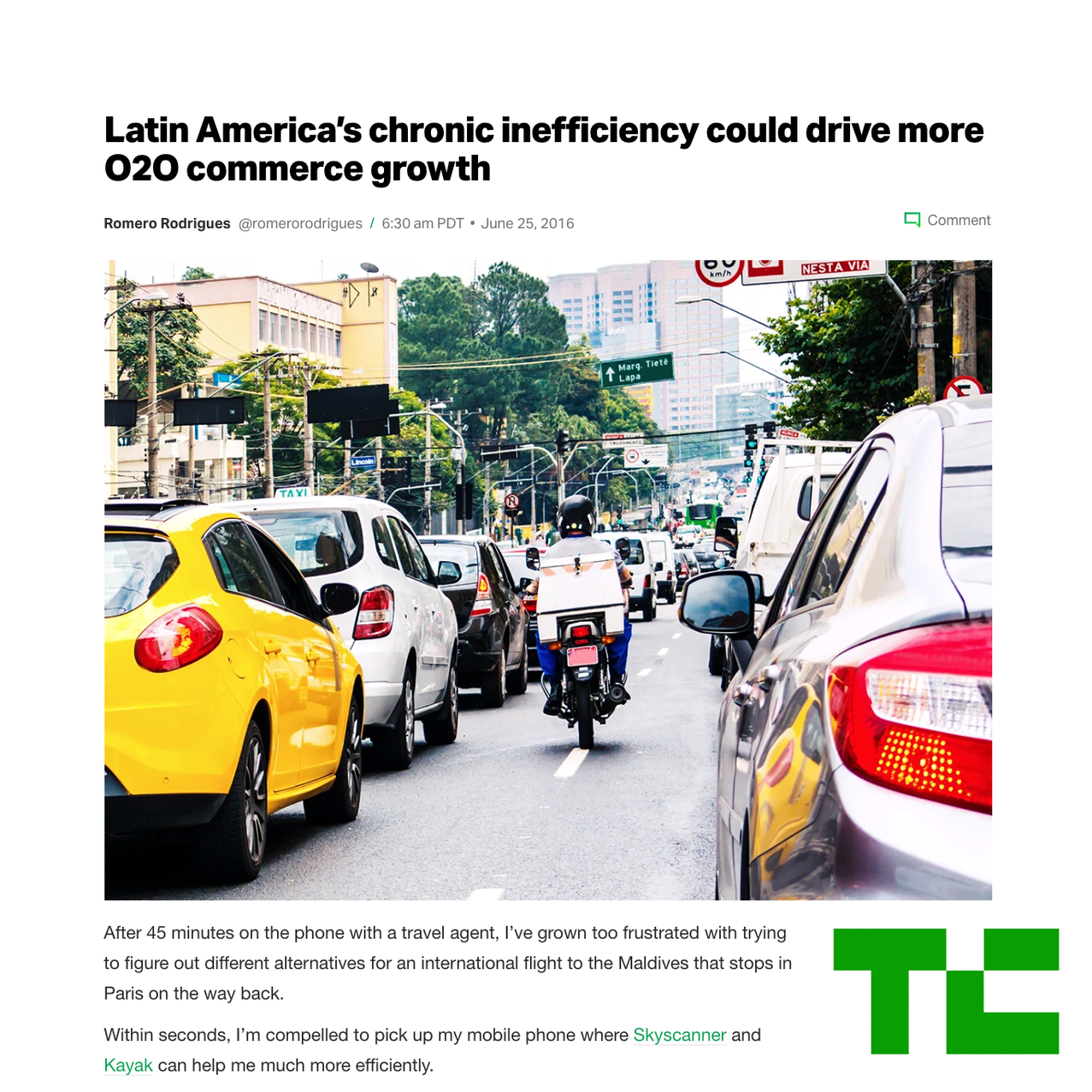 Brazil Food Delivery Takes Off.