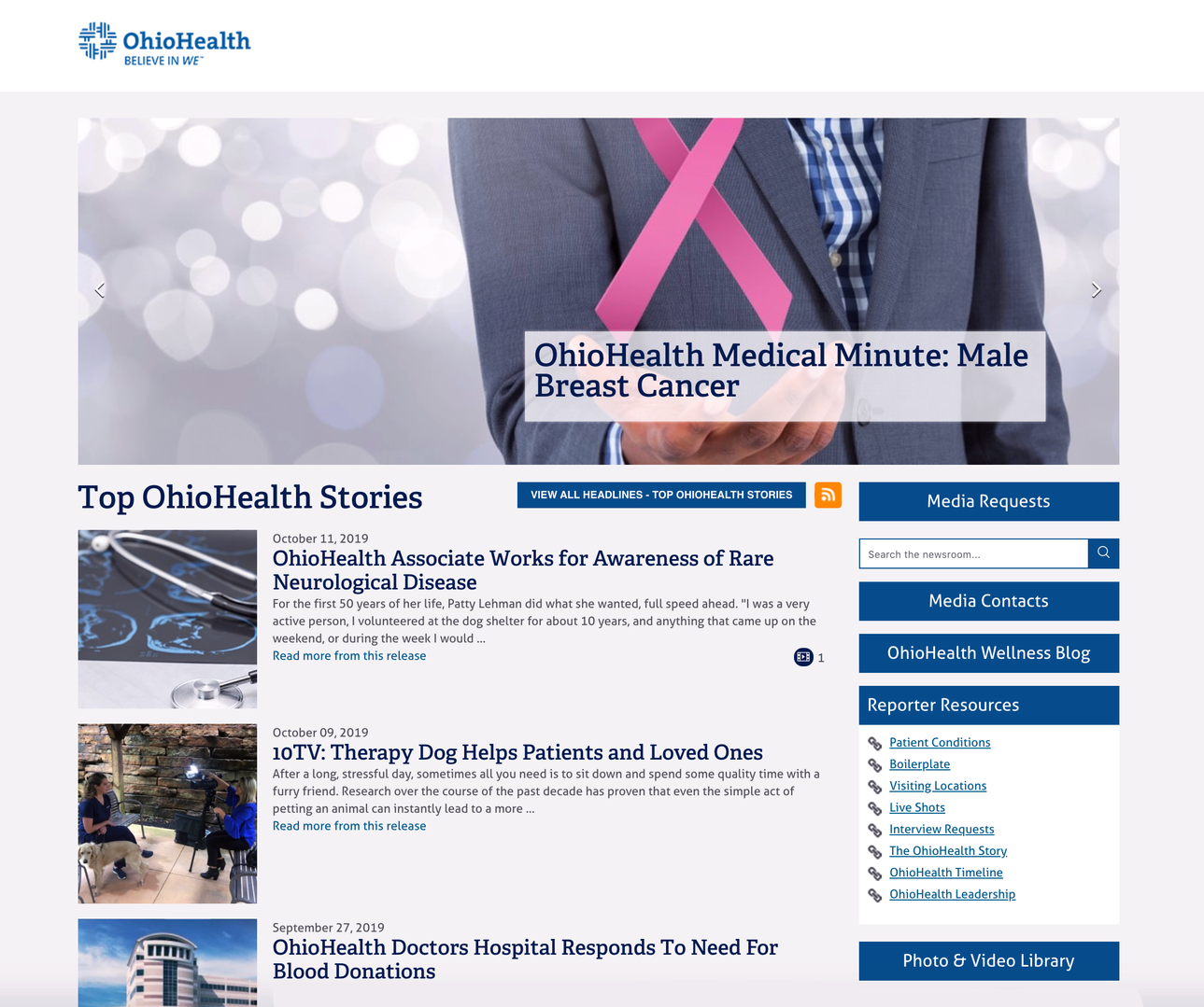OhioHealth Newsroom