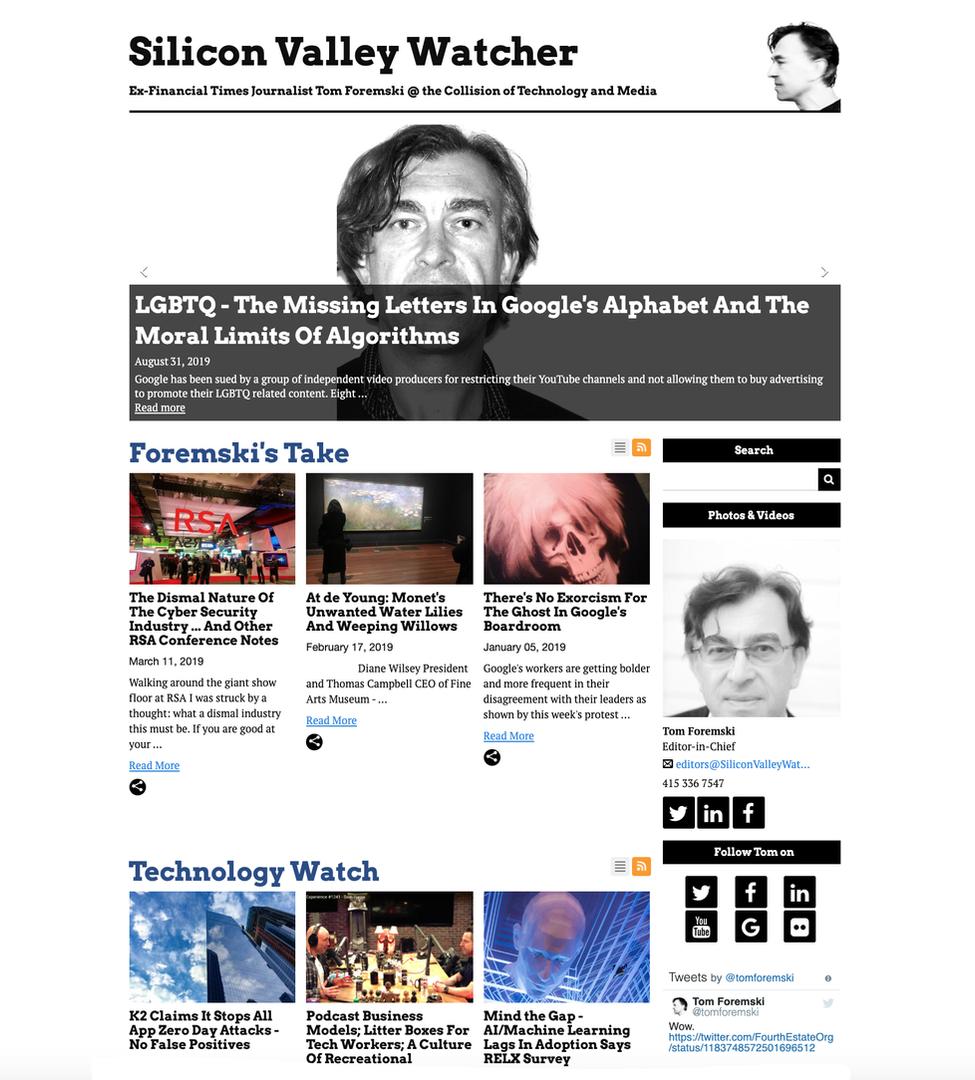 Silicon Valley Watcher Blog