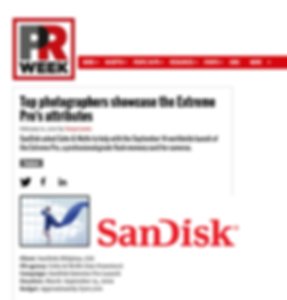 Promo for PRWeek Award for SanDisk campa