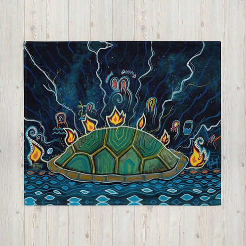 The Prophets of Turtle Island - Throw Blanket