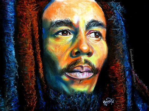 So Long As There's Distance -  Bob Marley Print (Stretched Canvas)