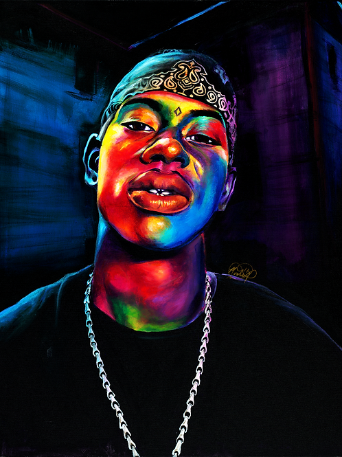 Soulja Slim - Print (Stretched Canvas)