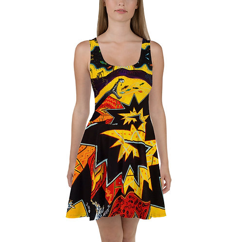 The Chaos of Ghostfish - Skater Dress