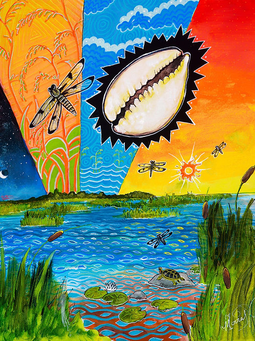 Where the Food Grows on Water - Print (Stretched Canvas)