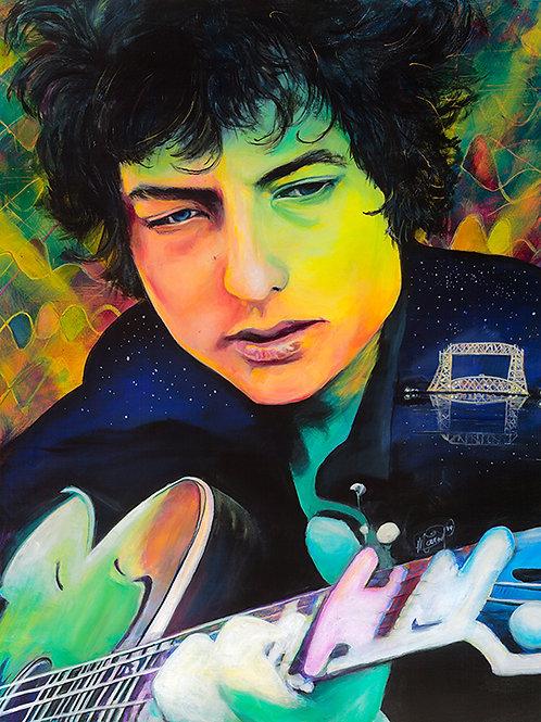 Nostalgia Tambourine - Bob Dylan Print