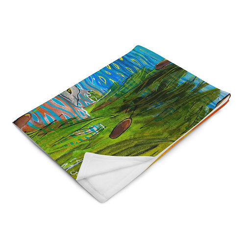 Where the Food Grows on Water - Throw Blanket