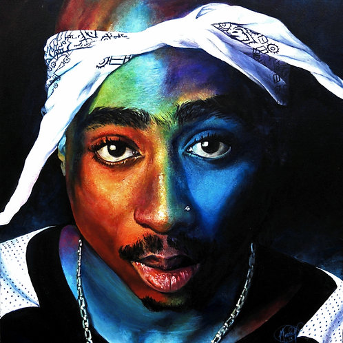 And Their Hearts - 2Pac Print (Stretched Canvas)