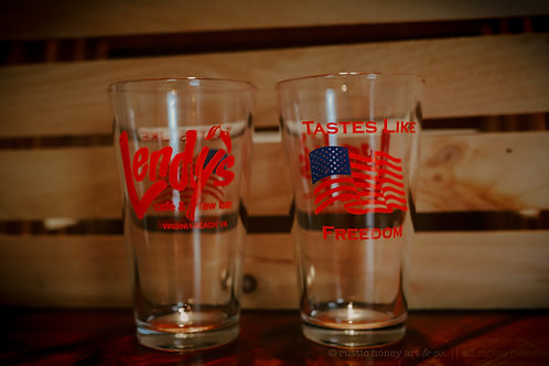 """Lendy's Signature Glass in """"RED"""""""