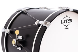 WTS bass drum with the revolutionary fast tuning system from Welch Tuning Systems, Inc.