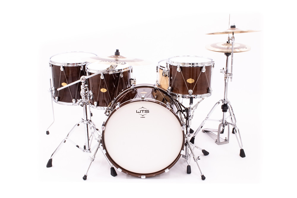 4/4 WTS Artistry Series full size drum kit | gloss cherry lacquer + Welch Tuning System hardware