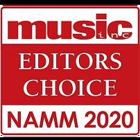Music Inc. Magazine | Editor's Choice Award | NAMM 2020