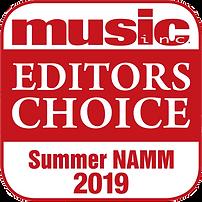 Music Inc. Magazine | Editor's Choice Award | Summer NAMM 2019