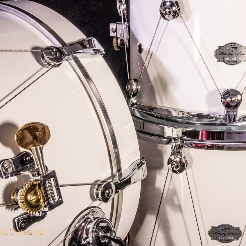 Drum kit hardware for tuning drums