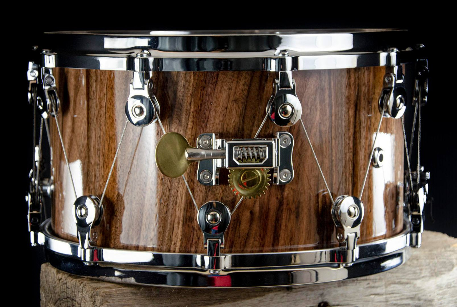 Outlaw Drums snare drum with WTS tuning knob drum tuning hardware