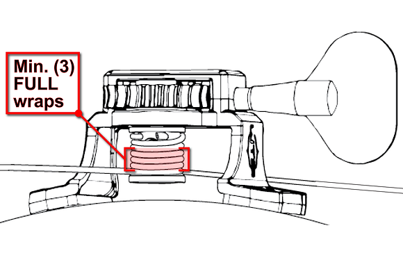 Step 6 part 2 illustration - wrap cable