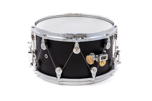 WTS Epiphany Series Snare drum | 13x7.5 snare | Matte Black wrap finish | 7-ply maple shell | WTS single-point tuning system