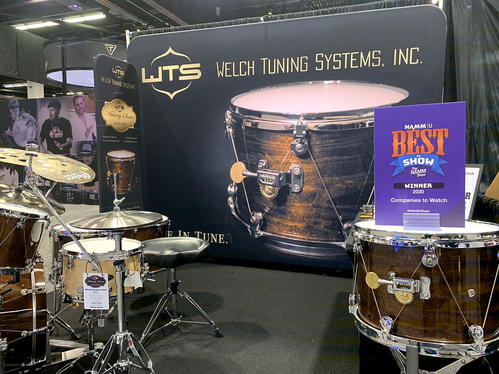 WTS Drums Booth at the 2020 NAMM Show | Best in Show: Companies to Watch