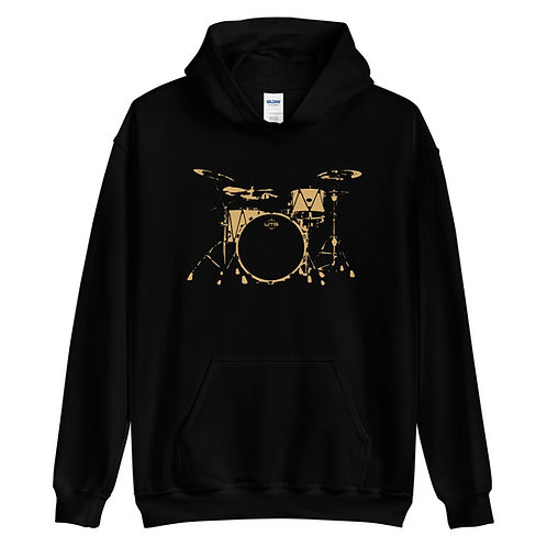 Front of Black WTS Hoodie Sweatshirt | WTS Drums Merch | Welch Tuning Systems, Inc.