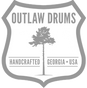 Outlaw Drums logo - faded