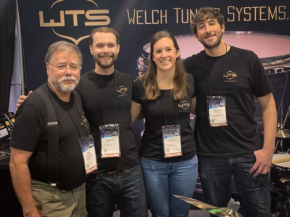 NAMM 2019 - the Welch Tuning Systems, Inc. team - John Montana, Samuel Welch, Laura Kraft, Patrick Auell