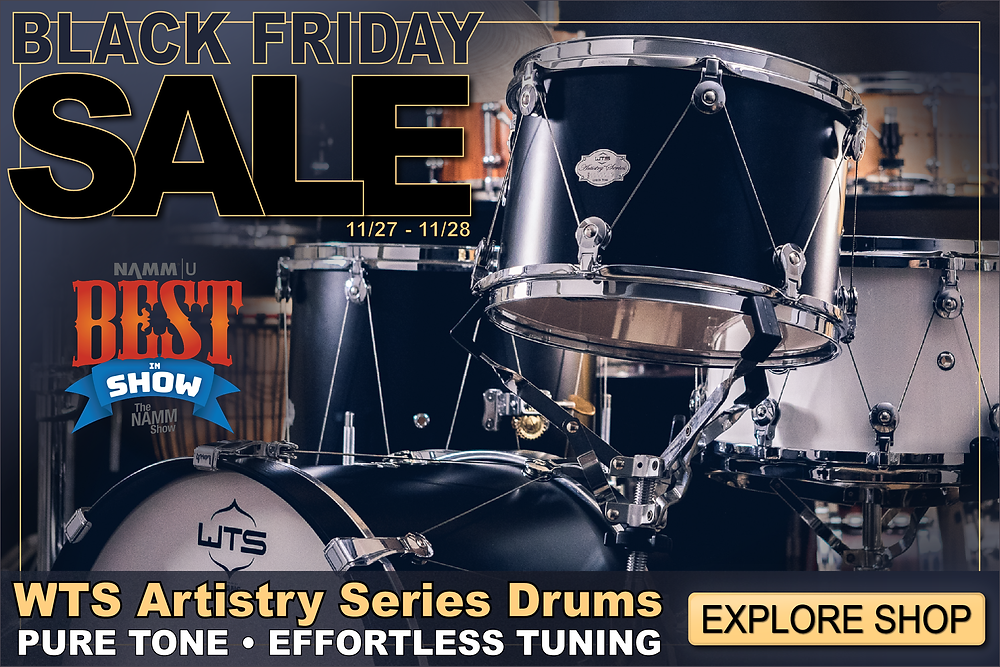 WTS Drums Black Friday Sale - 25% off snare drums and shell packs