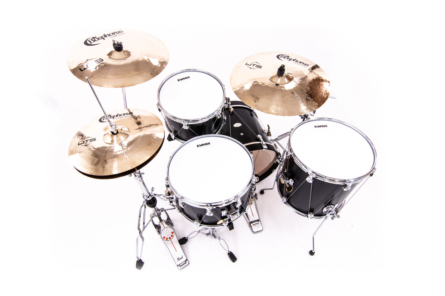 Bosphorus Cymbals paired with the WTS Artistry Series shell pack and snare drum