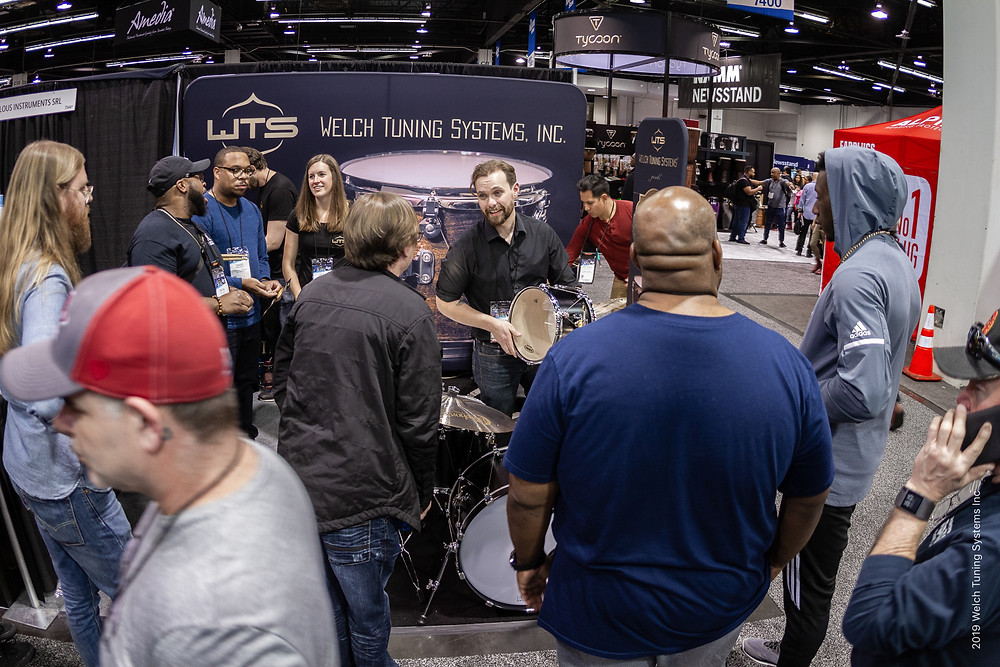 NAMM 2019 - Welch Tuning Systems, Inc. crowded booth