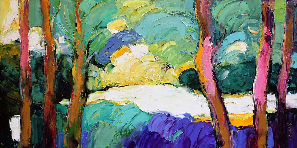 Хаттин Валерий / Khattin Valery - Деревья \ Trees - 55x110 sm