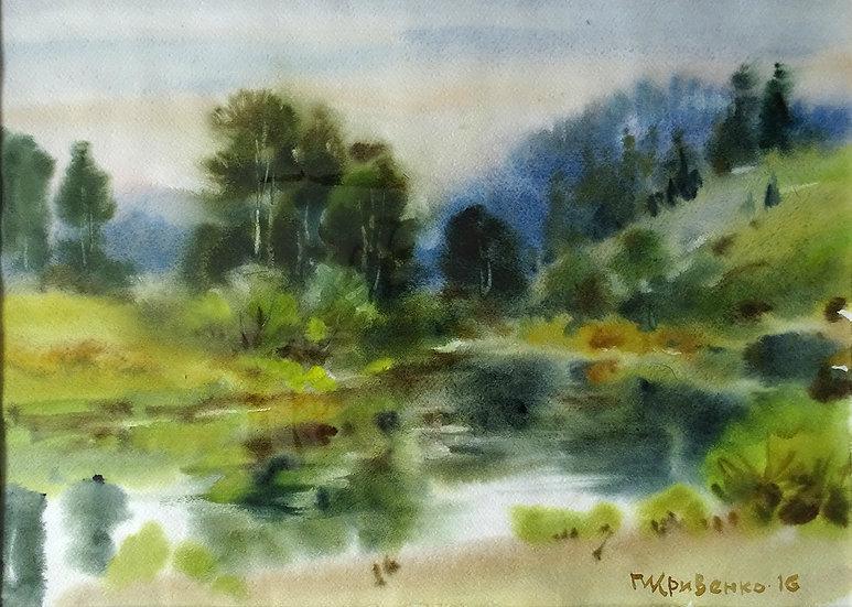 Кривенко Петр - Деревья у воды