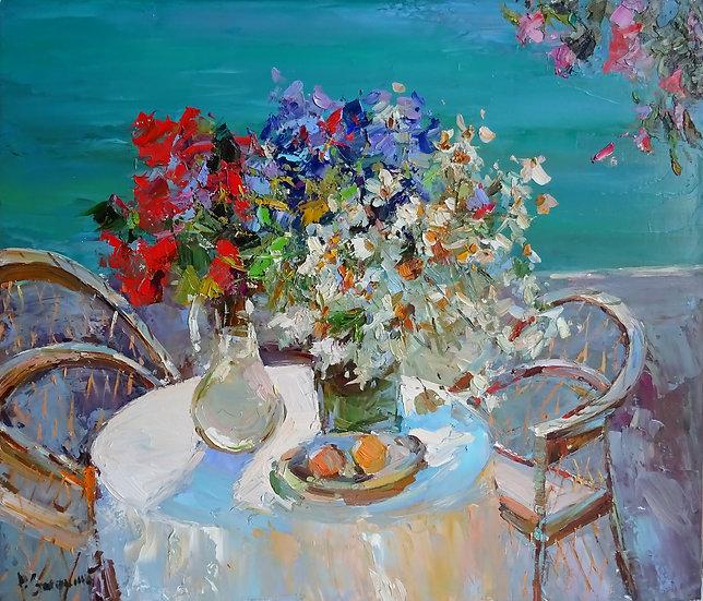 Рустем Стахурский \ Rustem Stakhurskiy  - Цветы  \Flowers -60x80 sm