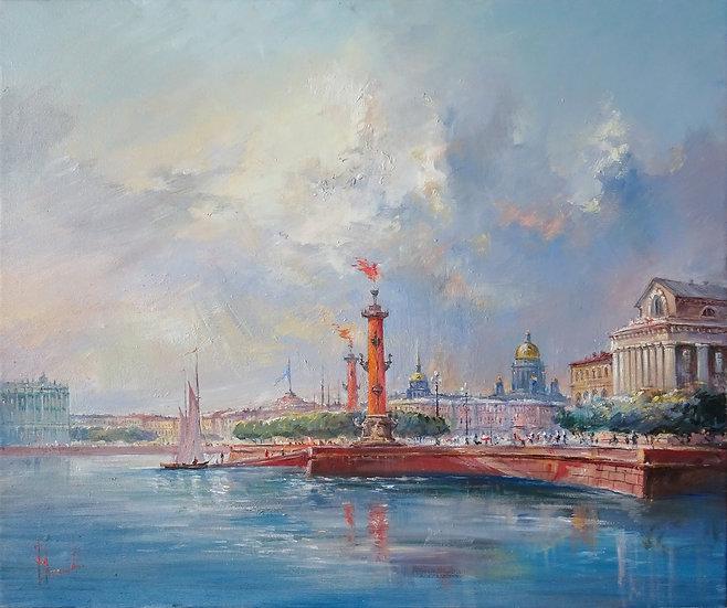 Yuri Stepanov / Yuri Stepanov - Strelka V.O. \ St. Petersburg - 50x60 sm