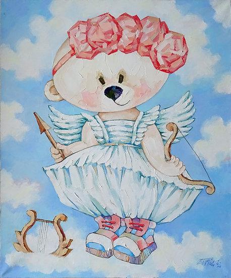 Елена Бутузова \ Elena Butuzova - Ангелочек \ Little angel - 60x50
