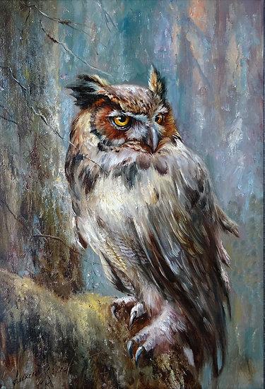 Alexey Rychkov \ Alexey Rychkov - Wise owl \ The wise owl - 60х40 sm