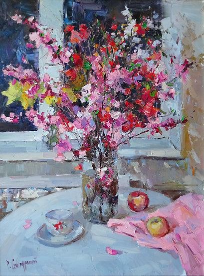 Рустем Стахурский \ Rustem Stakhursky - Весенний букет \ Spring bouquet  - 80х60