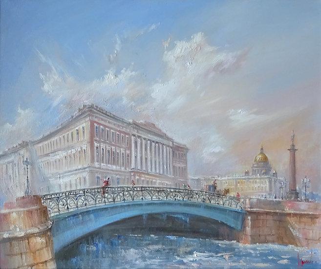 Юрий Степанов / Yuri Stepanov - Певческий мост \ Singing bridge - 50x60 sm