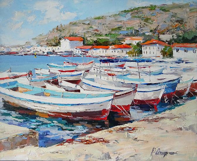 Рустем Стахурский \ Rustem Stakhurskiy  - Лодки  \Boats  - 50x60 sm