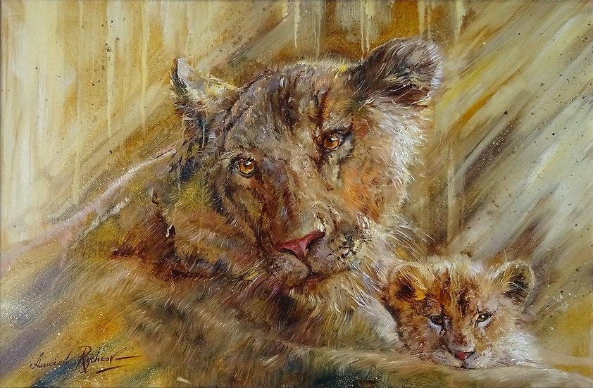 Алексей Рычков \ Alexey Rychkov - Все мамы – львицы \ Lioness - 60х90 sm