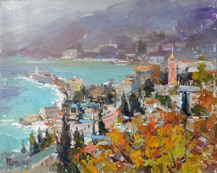 Рустем Стахурский - Вид на Ялту  \ View of Yalta