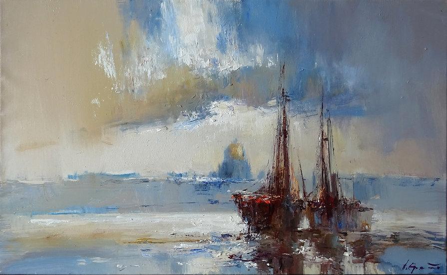 Дмитрий Ермолов \ Dmitry Ermolov - Корабли на Неве \Boats on the Neva